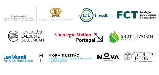 President of the Republic of Portugal, EIT Health, Fundação Calouste Gulbenkian, Fundação para a Ciência e Tecnologia, Carnegie Mellon, Shuttleworth Foundation, LexMundi Foundation, Morais Leitão and Católica Lisbon School of Business